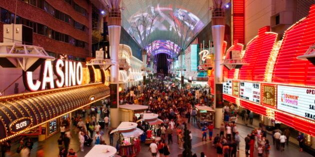 The Freemont Street Experience in Downtown Las Vegas, Las Vegas, Nevada, United States of America, North America