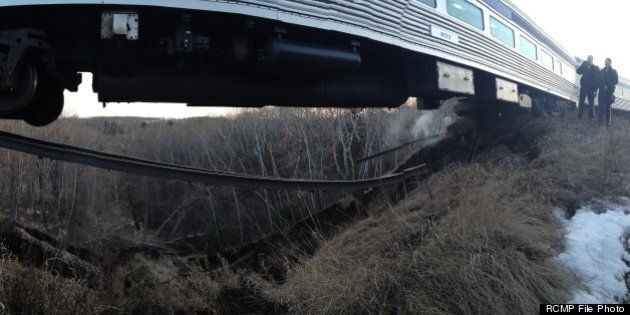 Via Rail Train Derailment In Togo, Saskatchewan Due To Washed Out
