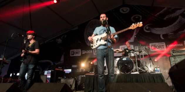 AUSTIN, TX - MARCH 20: Members of Viet Cong performs onstage at the FADER FORT presented by Converse...