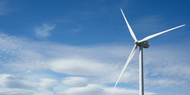 A wind turbine manufactured by Vestas Wind Systems A/S stands at the Macarthur Wind Farm, a joint venture...