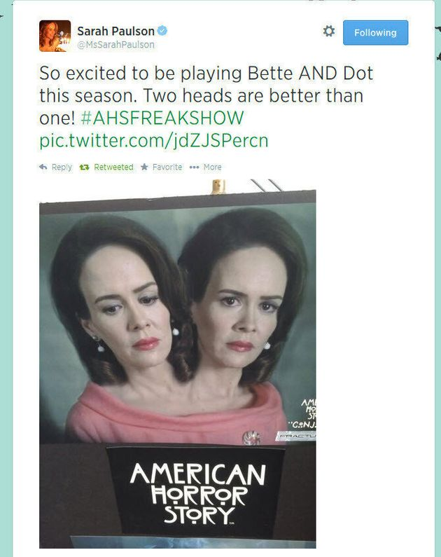 'American Horror Story: Freak Show': Sarah Paulson Reveals Character (PHOTO,