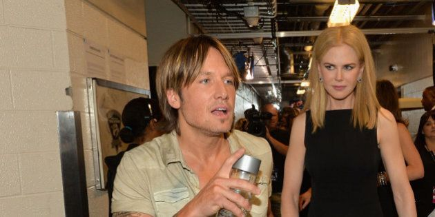 NASHVILLE, TN - JUNE 05:  Keith Urban and Nicole Kidman attend the 2013 CMT Music awards at the Bridgestone Arena on June 5, 2013 in Nashville, Tennessee.  (Photo by Rick Diamond/Getty Images)