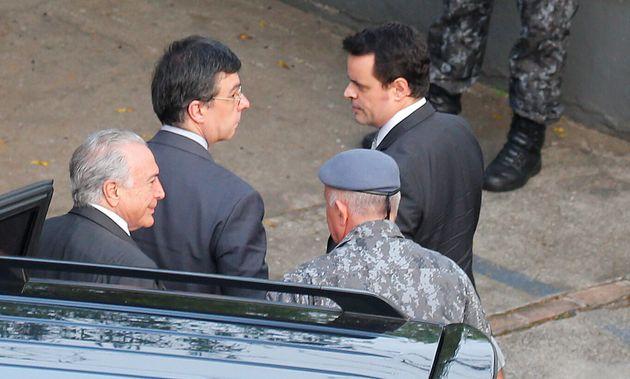 Ex-presidente Michel Temer chega ao batalhão de choque daPolícia Militar paulista,...