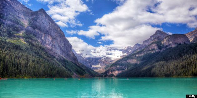 Iconic Lake Louise, AB, Canada. Located in Banff National Park. Shot in