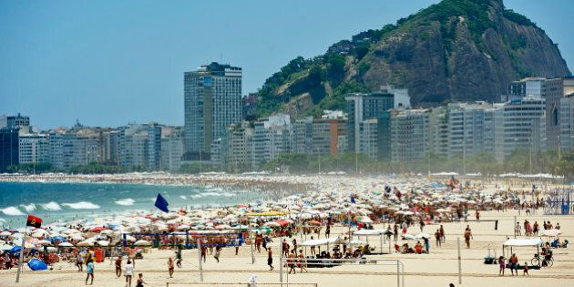RIO DE JANEIRO, BRAZIL - NOVEMBER 15: A general view of Copacabana Beach during the III Mundialito de...