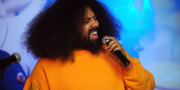 NEW YORK, NY - DECEMBER 10: Comedian and Musician Reggie Watts performs onstage at Artists for Peace...