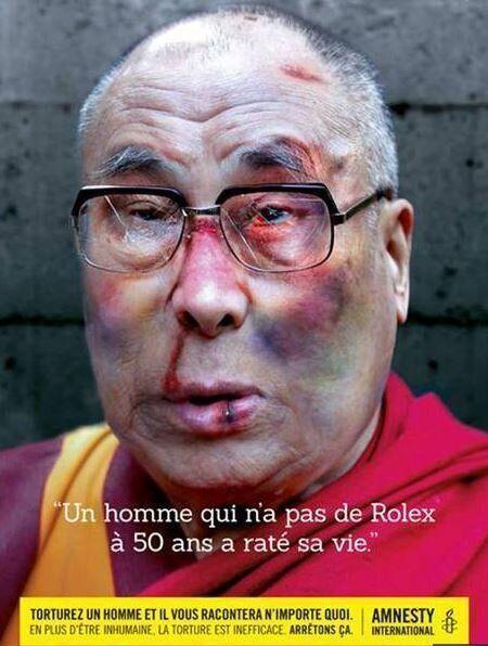 Amnesty International: Iggy Pop, Dalai Lama And Karl Lagerfeld Images Take A Beating, Make A