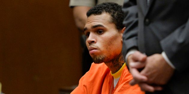 R&B singer Chris Brown appears in court on Thursday, May 1, 2014, in Los Angeles. Superior Court Judge...
