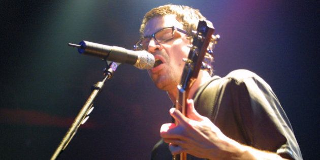 Matthew Good of the Matthew Good Band performing at the Bowery Ballroom in New York City. 3/7/01 Photo...