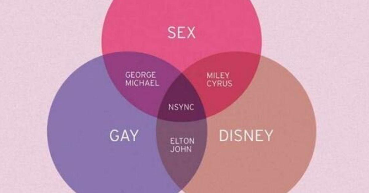 venn diagram  nsync is where sex  disney and gay meet