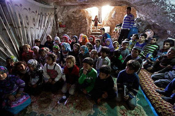 School In A Cave Gives Syrian Children A Safe Learning