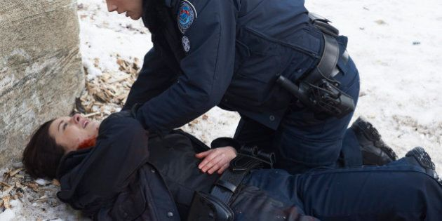 ROOKIE BLUE - 'Under Fire' - Andy and Chloe are blindsided by an unseen shooter when they respond to...