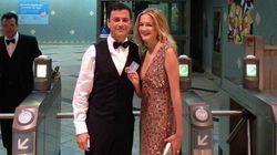 LOOK: Jimmy Kimmel, Wife Take Subway To