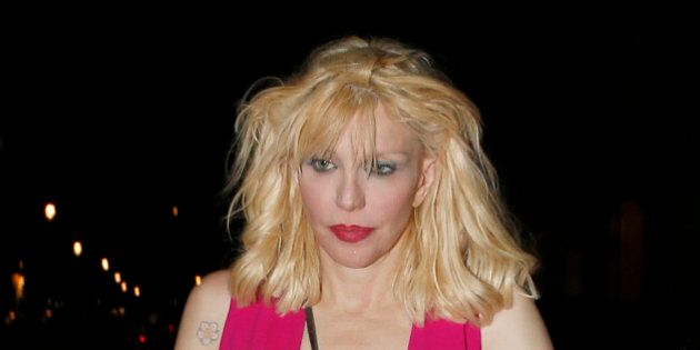 LONDON, UNITED KINGDOM - MAY 12: Courtney Love seen arriving at The Chiltern Firehouse for dinner on...