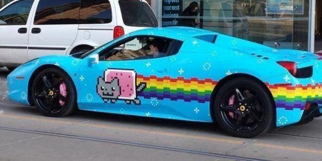 Deadmau5 Receives Cease And Desist From Ferrari Sadly Unwraps Nyan Cat Purrari Huffpost Canada News