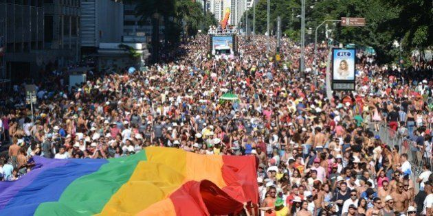 SAO PAULO, BRAZIL - MAY 04: Over a million people flooded the streets of central Sao Paulo this Sunday...