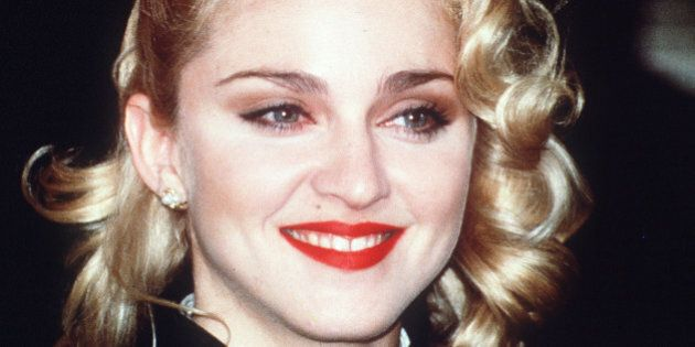 Pop singer and actress Madonna, in London, March 1986, to publicise her new movie