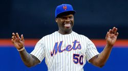 50 Cent Throws First Pitch, Dies