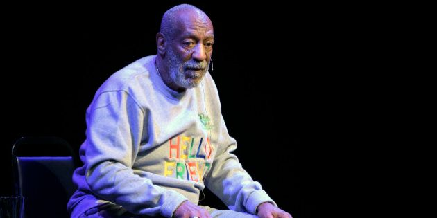 Comedian Bill Cosby performs during a show at the Maxwell C. King Center for the Performing Arts in Melbourne,...