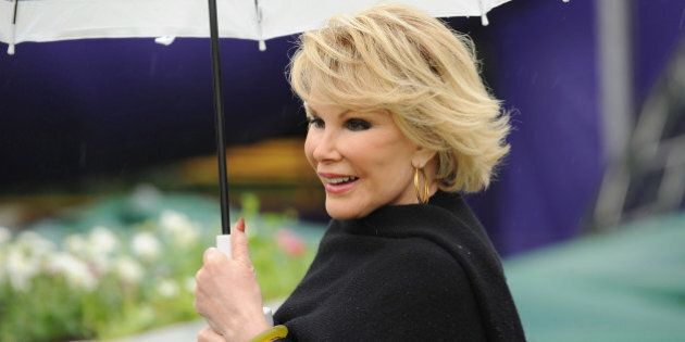 LONDON, ENGLAND - MAY 27: Joan Rivers launches the E4 Udderbelly season of comedy, music, theatre, circus,...