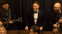 WATCH: Michael Bublé Sings Huey Lewis, *NSync To His