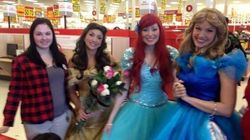 'Princesses' Comfort Workers At Soon-To-Be-Closed Target