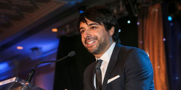 THORNHILL, ON - JANUARY 25: CBC's Jian Ghomeshi (centre) was the emcee at the 2014 Parya Trillium Foundation...