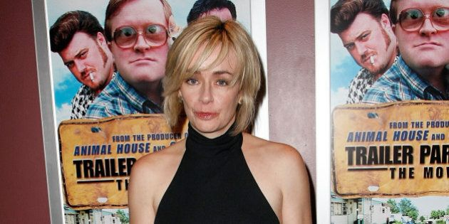 LOS ANGELES, CA - JANUARY 23:  Actress Lucy Decoutere arrives at the premiere of Screen Media Films premiere of 'Trailer Park Boys: The Movie' at the Laemmle Sunset 5 on January 23, 2008 in Los Angeles, California.  (Photo by Michael Buckner/Getty Images)