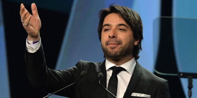 WINNIPEG, MB - MARCH 29: Jian Ghomeshi the host of the Juno Awards Gala on March 29, 2014 in Winnipeg,...