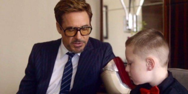 Robert Downey Jr. Gives 'Iron Man' Bionic Arm To 7-Year-Old Boy, And It's Awesome