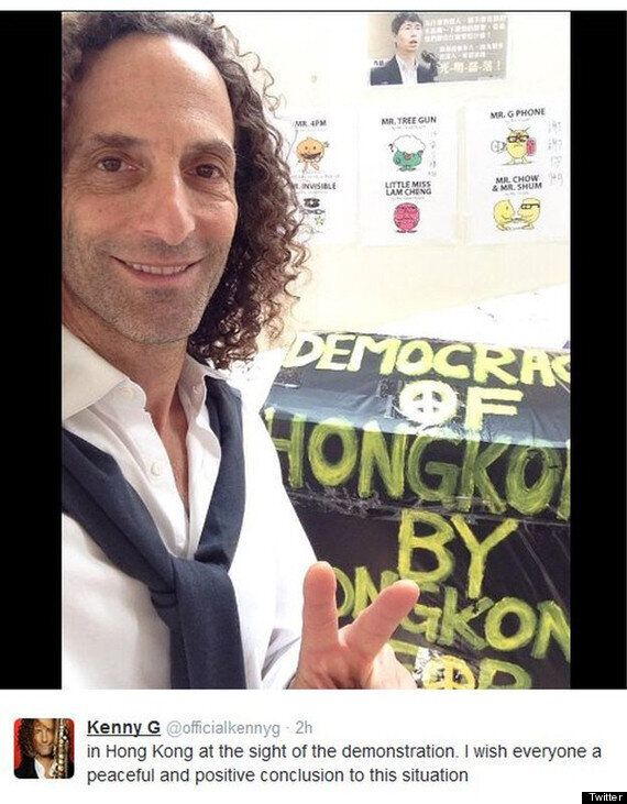 Kenny G Angers Authorities *And* Activists After Hong Kong Protest