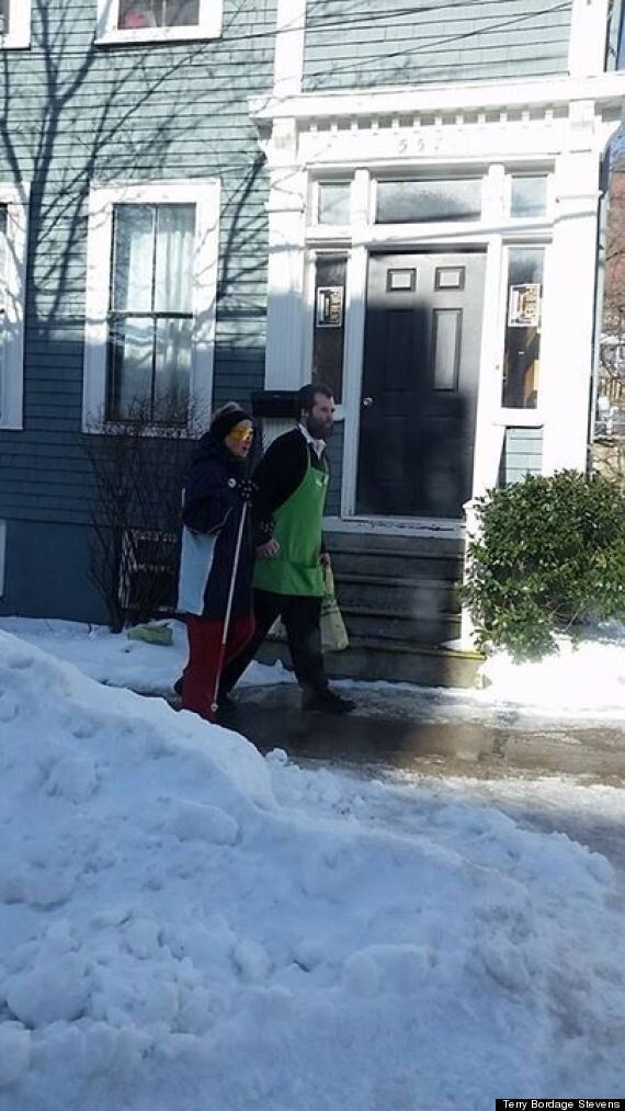 Sobeys Clerk Austin MacNeill Walks Blind Woman Home In Heartwarming Facebook