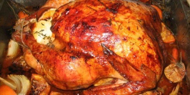Description 1 A Thanksgiving turkey that had been soaked for 10 hours ... Category:Thanksgiving food...