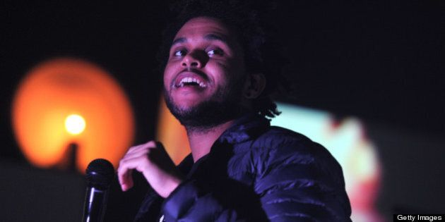 TORONTO, ON - NOVEMBER 2: The Weeknd - alias Abel Tesfaye and friends - perform the first of four sold-out...