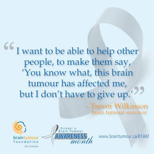 October Is Brain Tumour Awareness