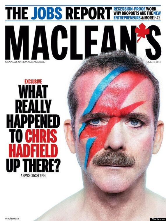 Chris Hadfield Channels David Bowie On Maclean's Cover