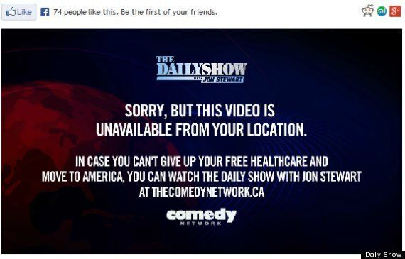 Daily Show's Hilarious Message To Canadian
