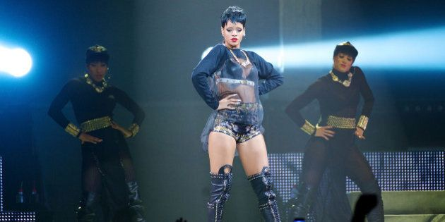 PERTH, AUSTRALIA - SEPTEMBER 24: Rihanna performs live for fans at the first show of her Australian Tour...