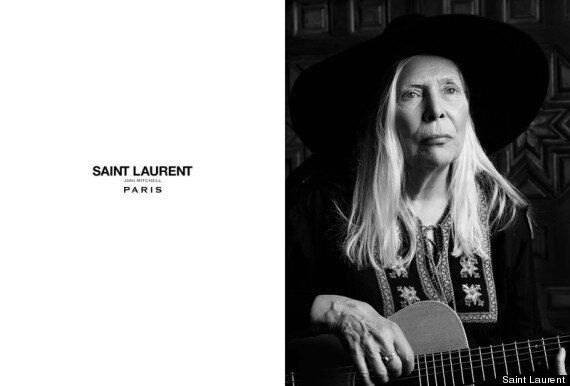 Joni Mitchell Is Modeling For Saint