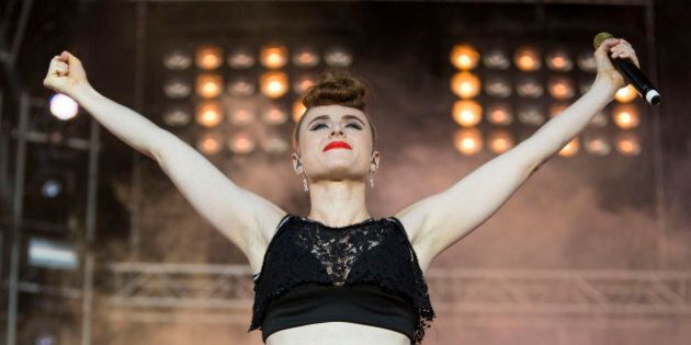 PLYMOUTH, UNITED KINGDOM - JULY 15: Kiesza performs at MTV Crashes Plymouth at Plymouth Hoe on July 15,...