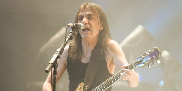 INDIANAPOLIS - NOVEMBER 03: Malcolm Young of the Australian rock band AC/DC performs in concert on their...