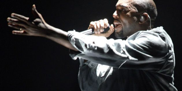 SAN FRANCISCO, CA - AUGUST 08: Kanye West performs during the Outside Lands Music and Arts Festival at Golden Gate Park on August 8, 2014 in San Francisco, California. (Photo by Tim Mosenfelder/Getty Images)