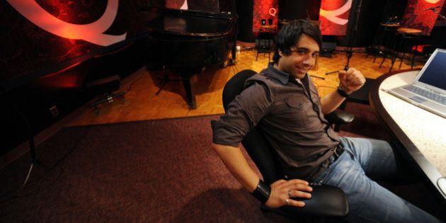 TORONTO, ON - MAY 6:  Jian Ghomeshi, host of CBC-Radio morning show, Q, in the Q studio at CBC.        (Rick Eglinton/Toronto Star via Getty Images)