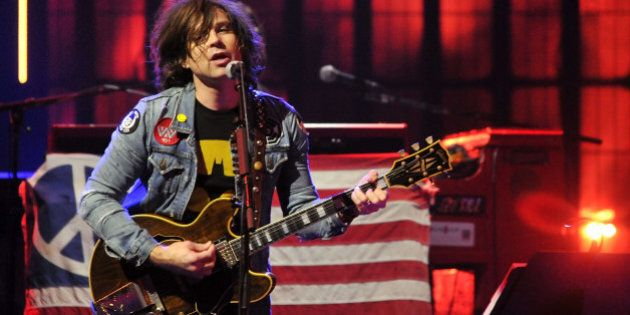 LONDON, ENGLAND - SEPTEMBER 21: Ryan Adams performs live on stage as part of the iTunes Festival at The...