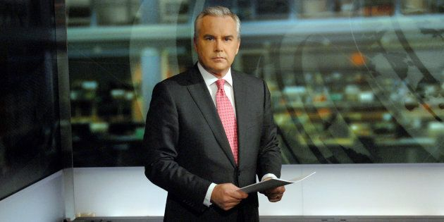 News anchor Huw Edwards is seen in a BBC