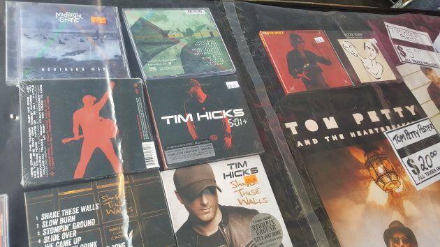 Midnight Shine CDs alongside Tom Petty's album.