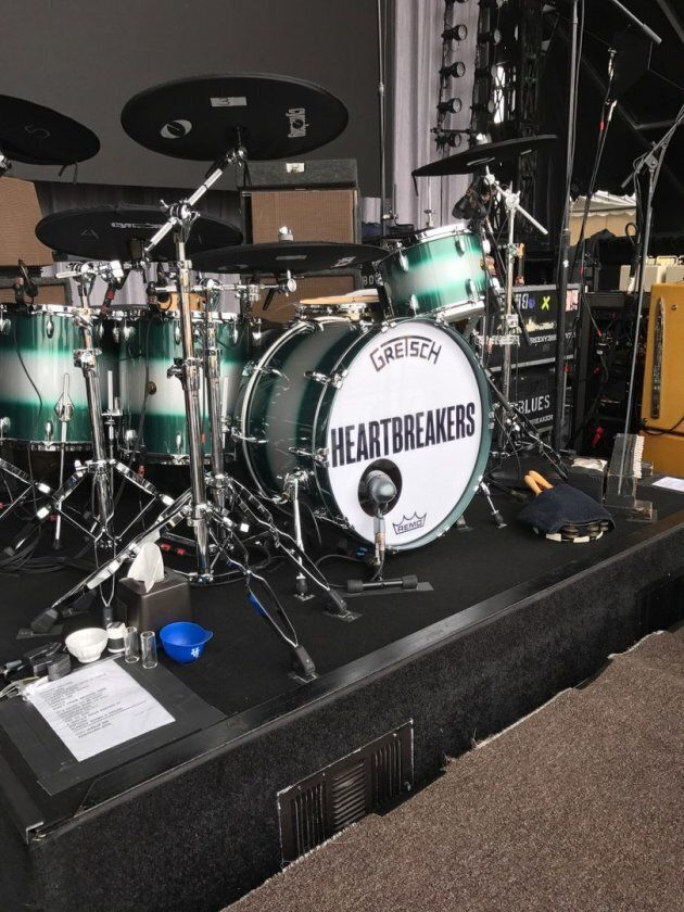 Tom Petty & The Heartbreaker's drum kit, backstage at RBC Ottawa