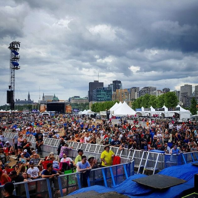 The RBC Bluesfest crowd for Midnight Shine's
