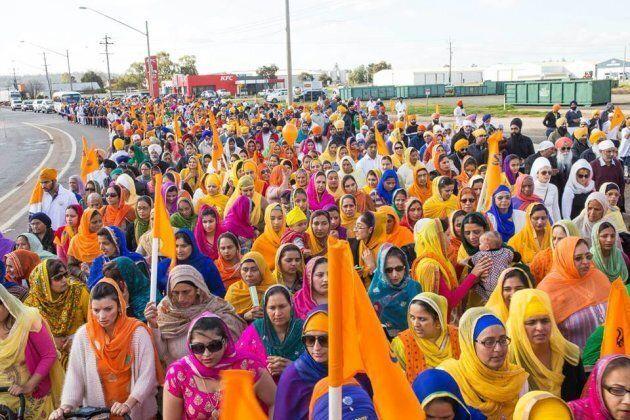 A nagar kirtan celebration in Australia,