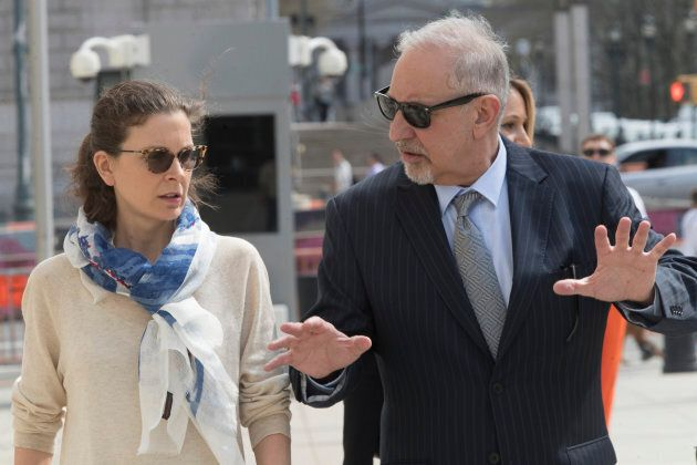 Clare Bronfman, arrives at Federal court in the Brooklyn borough of New York on